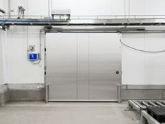 Automatic sliding door, single leaf